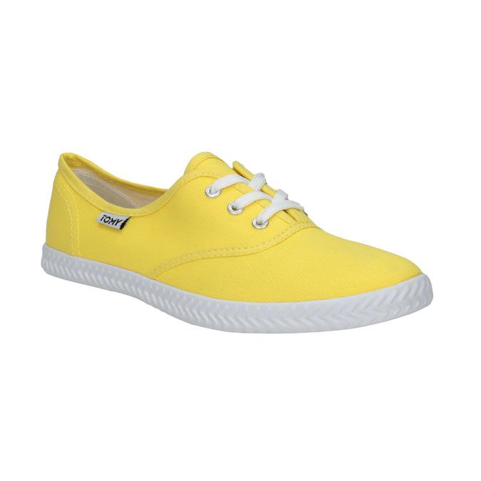 Žlté dámske tenisky tomy-takkies, žltá, 519-8691 - 13
