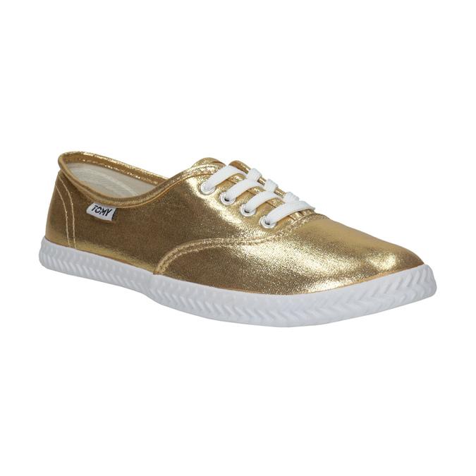 Zlaté dámske tenisky tomy-takkies, zlatá, 519-8690 - 13