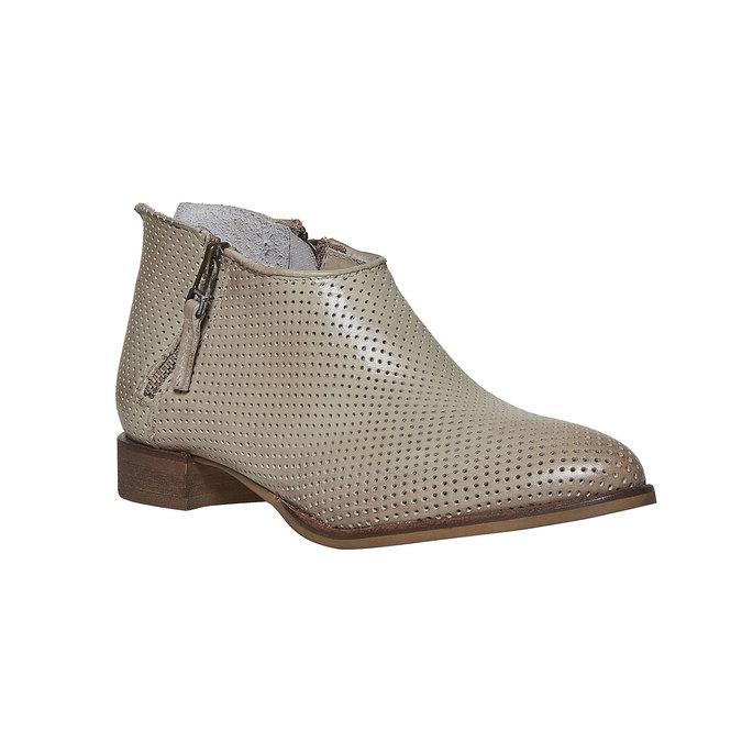 Kožené členkové čižmy bata, béžová, 594-2400 - 13