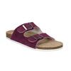 Dámske kožené papuče de-fonseca, fialová, 573-5620 - 13