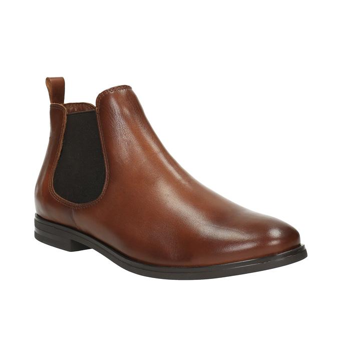 Kožené hnedé Chelsea Boots bata, hnedá, 594-4604 - 13