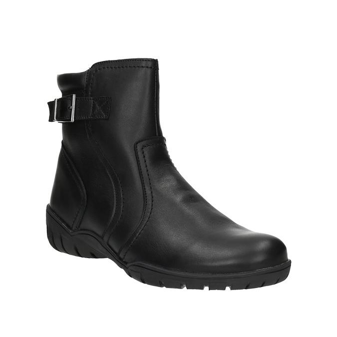 Dámska kožená zimná obuv bata, čierna, 594-6347 - 13