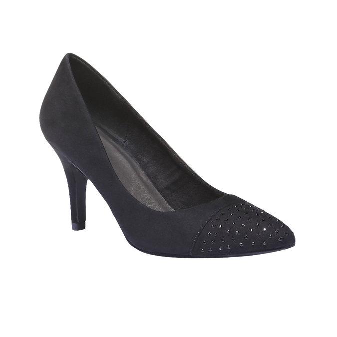 Lodičky s predĺženou špičkou bata, čierna, 629-6100 - 13