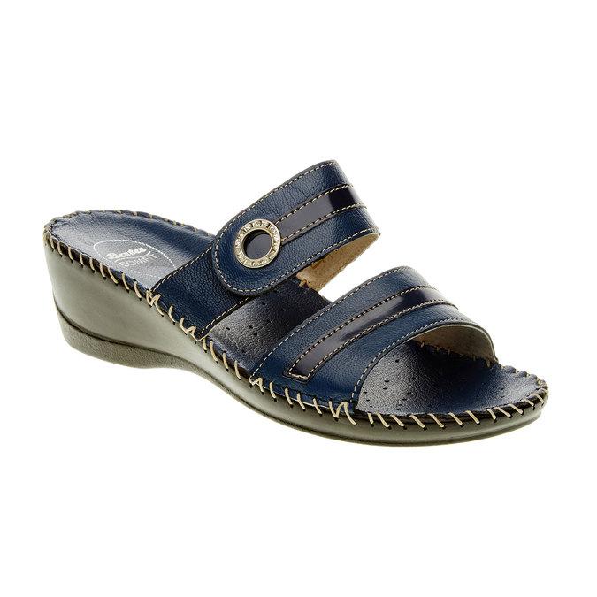 Dámske papuče na klinovom podpätku comfit, modrá, 674-9249 - 13