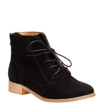 Členkové topánky so zipsom bata, čierna, 599-6493 - 13