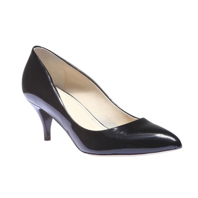 Lodičky s predĺženou špičkou bata, čierna, 628-6100 - 13