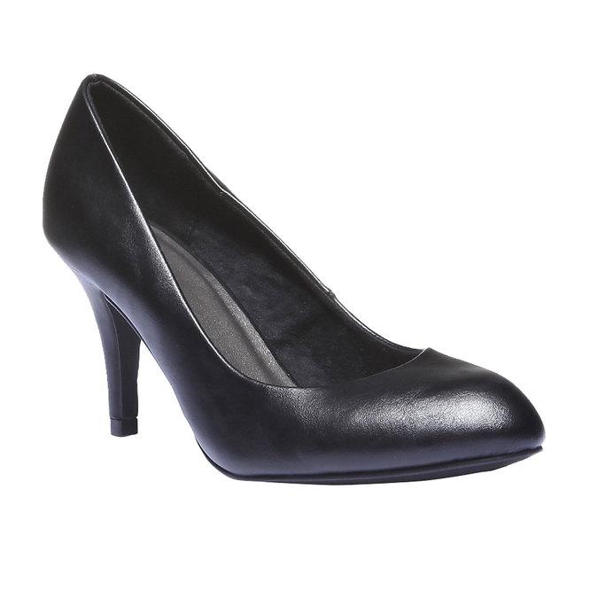 Lodičky na vysokom podpätku bata, čierna, 721-6237 - 13