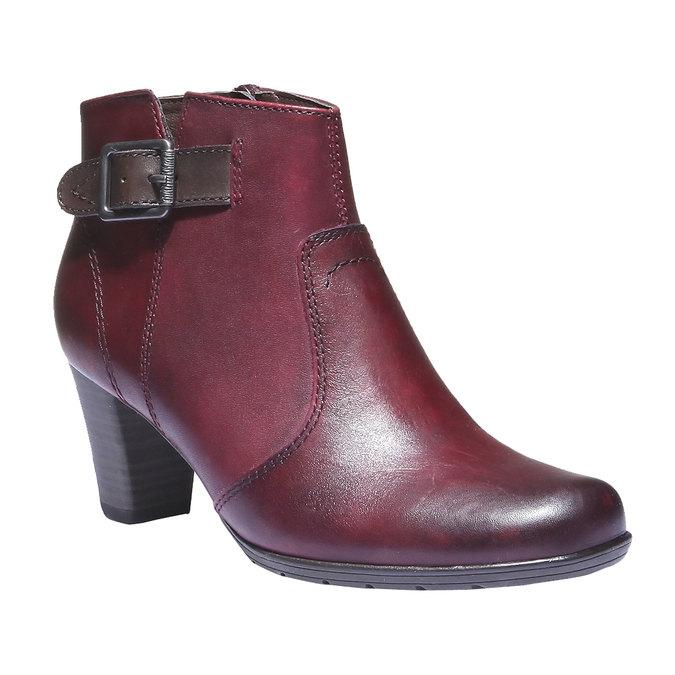 Dámska členková obuv bata, červená, 794-5100 - 13