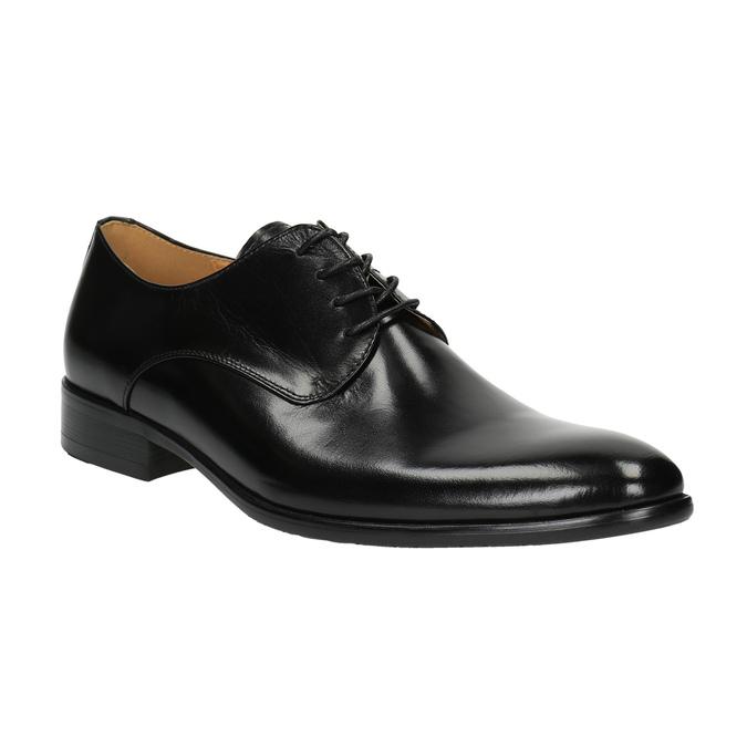 Pánske kožené poltopánky bata, čierna, 824-6648 - 13