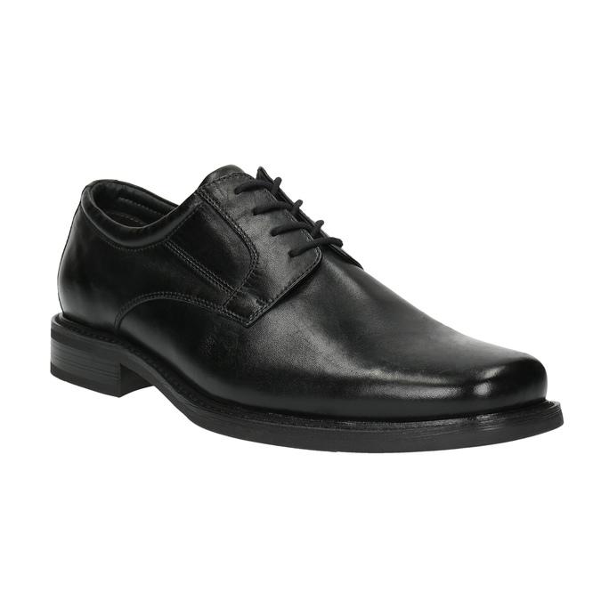 Pánske kožené poltopánky bata, čierna, 824-6655 - 13