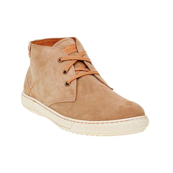 Pánska kožená obuv weinbrenner, hnedá, 843-8661 - 13
