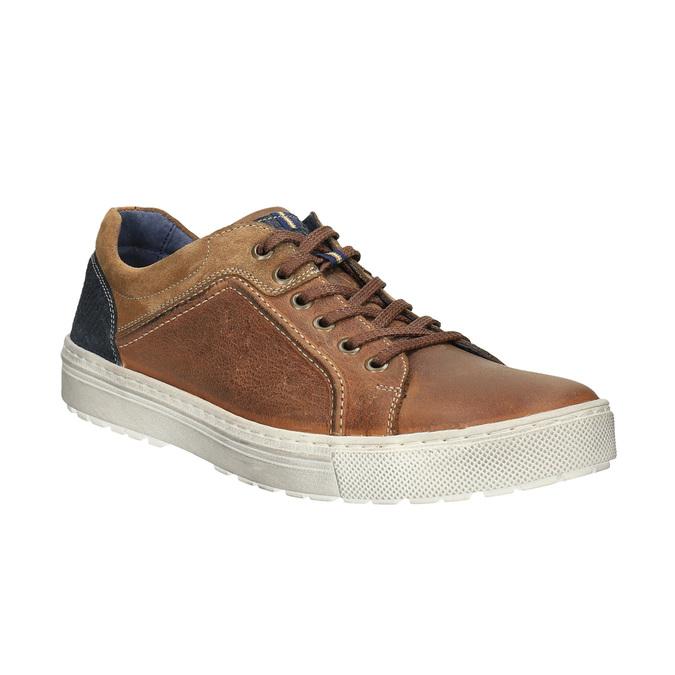 Pánske kožené tenisky bata, hnedá, 826-3651 - 13