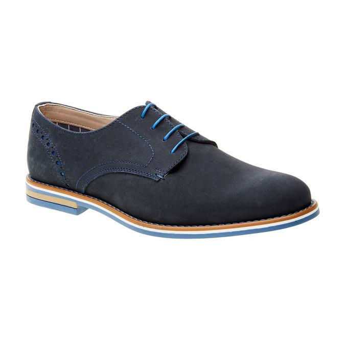 Kožené poltopánky s farebnou podrážkou bata, modrá, 826-9839 - 13