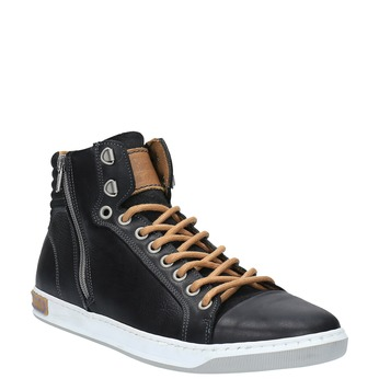 Pánske členkové tenisky bata, čierna, 844-6625 - 13