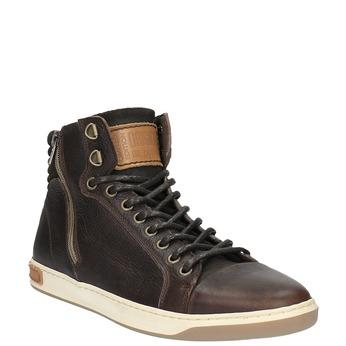 Pánske členkové tenisky bata, hnedá, 844-4625 - 13