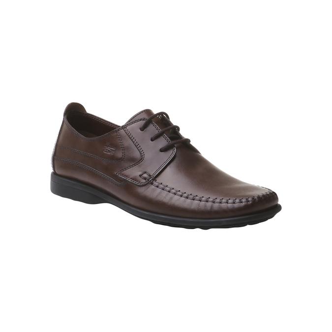 Kožená obuv na šnurovanie bata, hnedá, 854-4836 - 13