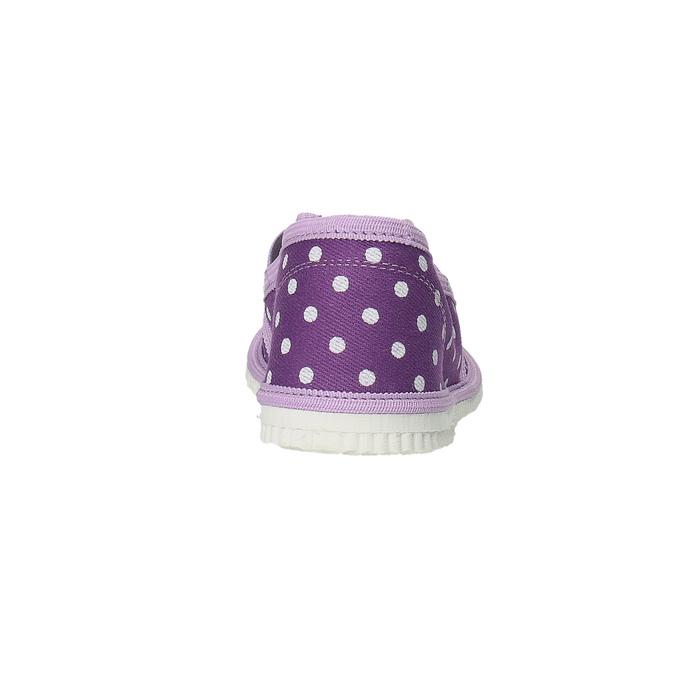Detská domáca obuv s bodkami bata, fialová, 279-9103 - 17