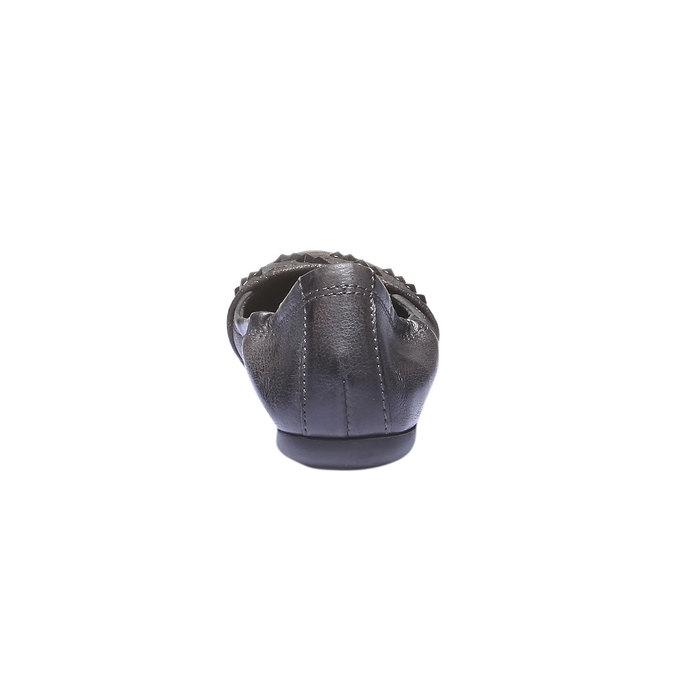 Kožené baleríny bata, šedá, 526-9101 - 17
