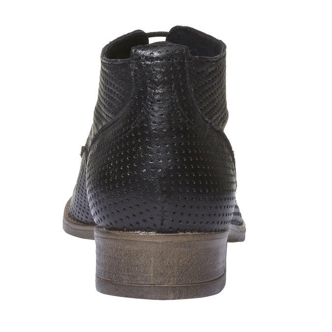 Dámske kožené členkové topánky bata, čierna, 524-6468 - 17