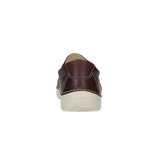 Dámske kožené Slip on flexible, červená, 526-5604 - 17