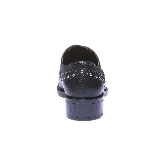Dámské Slip-on s kovovými cvočkami bata, čierna, 511-6161 - 17