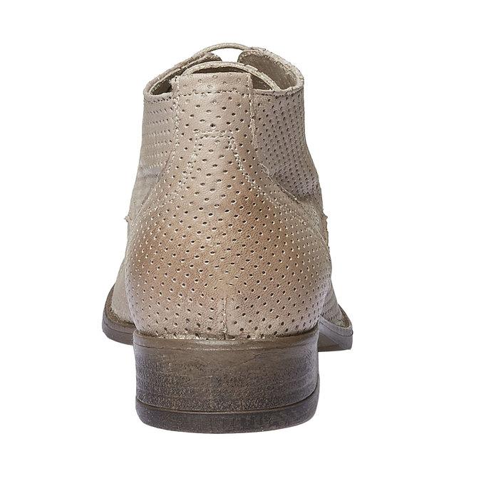 Dámske kožené členkové topánky bata, béžová, 524-8468 - 17