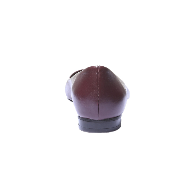 Kožené baleríny bata, červená, 524-5207 - 17