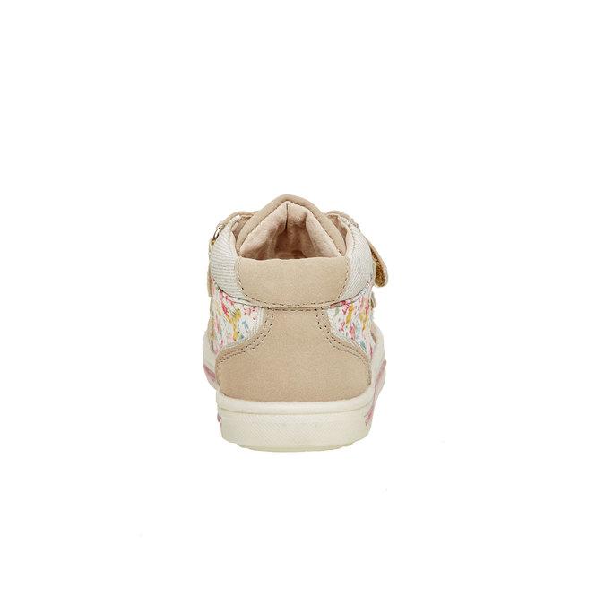 Členkové topánky na suchý zips mini-b, hnedá, béžová, 121-8101 - 17