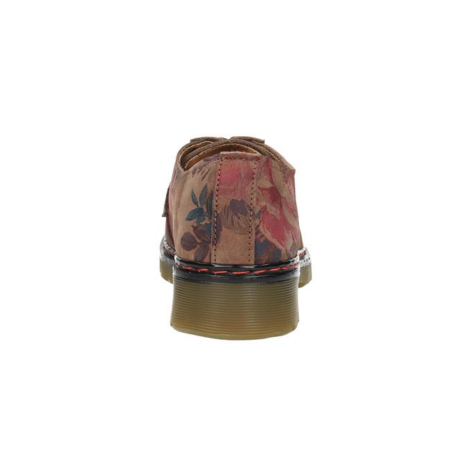 Kožené poltopánky s kvetinovým vzorom bata, hnedá, 526-5611 - 17