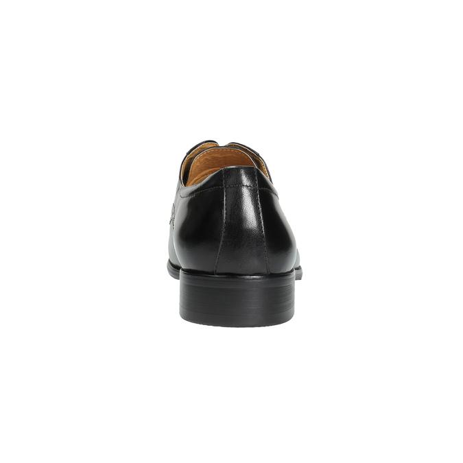 Pánske kožené poltopánky so zdobením bata, čierna, 824-6640 - 17