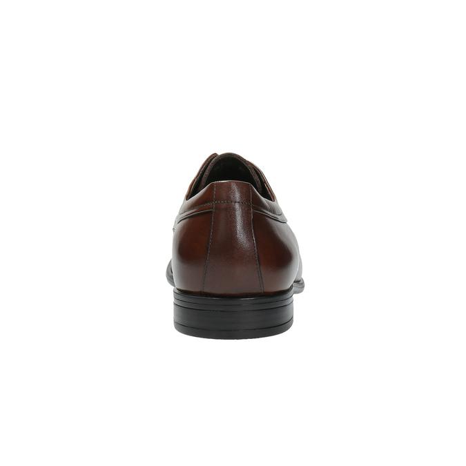 Hnedé kožené poltopánky bata, hnedá, 824-4723 - 17