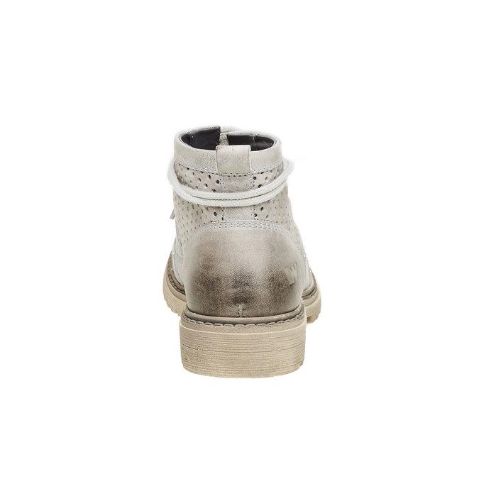 Kožené členkové topánky weinbrenner, šedá, 594-2138 - 17