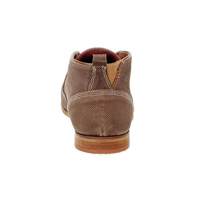 Kožené členkové poltopánky bata, hnedá, 826-3101 - 17