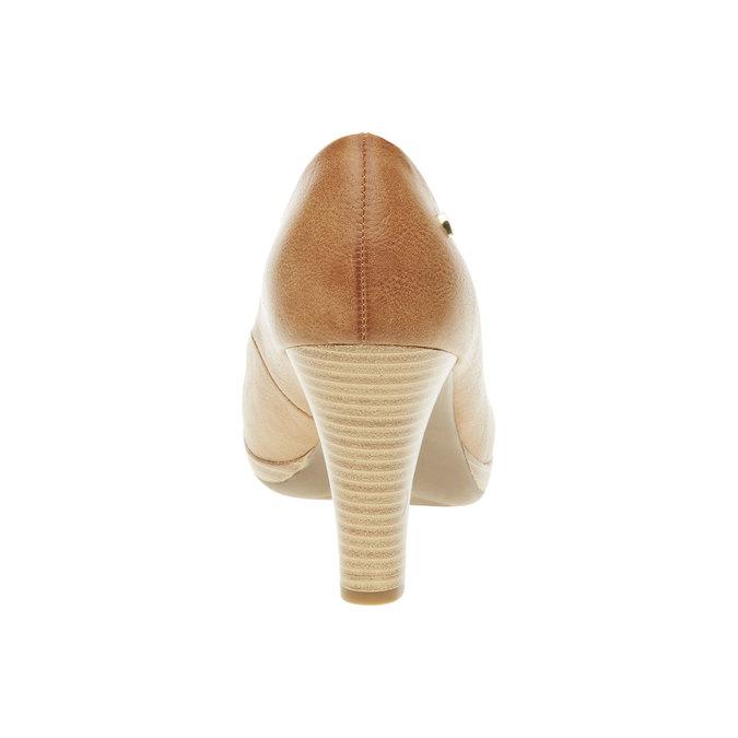 Lodičky na širokom podpätku bata, hnedá, 721-4946 - 17