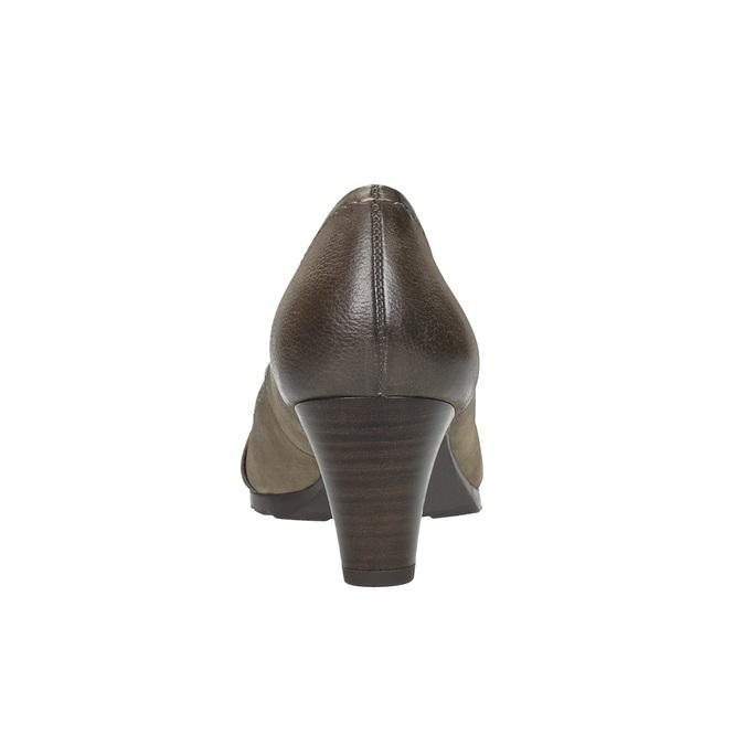 Dámske kožené lodičky bata, hnedá, 626-2600 - 17