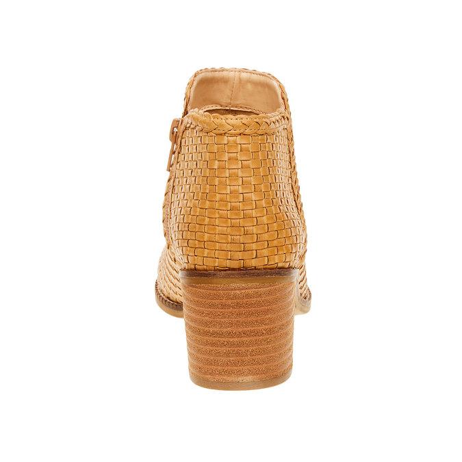 Členkové čižmy v pletenom designe bata, hnedá, 691-8273 - 17