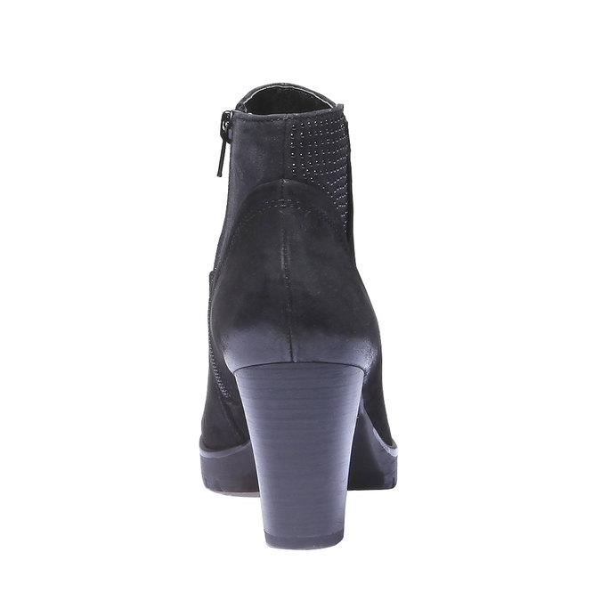 Kožená členková obuv bata, čierna, 796-6122 - 17