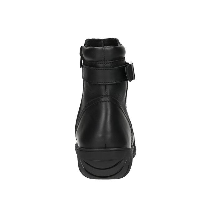 Dámska kožená zimná obuv bata, čierna, 594-6347 - 17