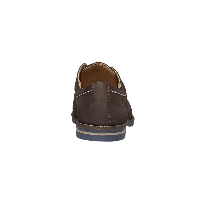 Kožené poltopánky s výrazným prešitím bata, hnedá, 826-4642 - 17