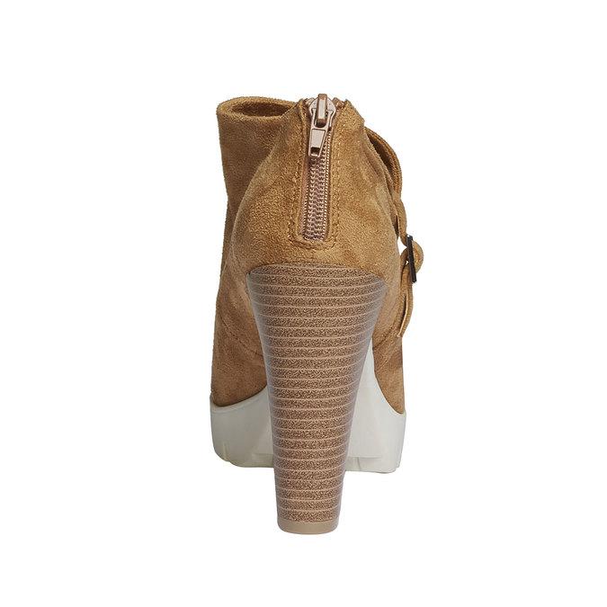 Členkové čižmy s výraznou podrážkou bata, hnedá, 799-3630 - 17