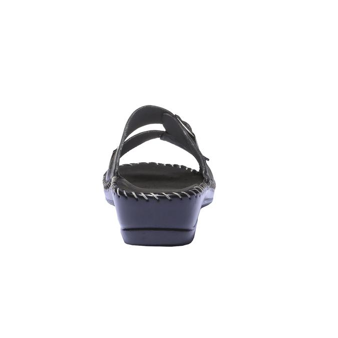 Kožené nazúvaky bata-comfit, čierna, 574-6173 - 17