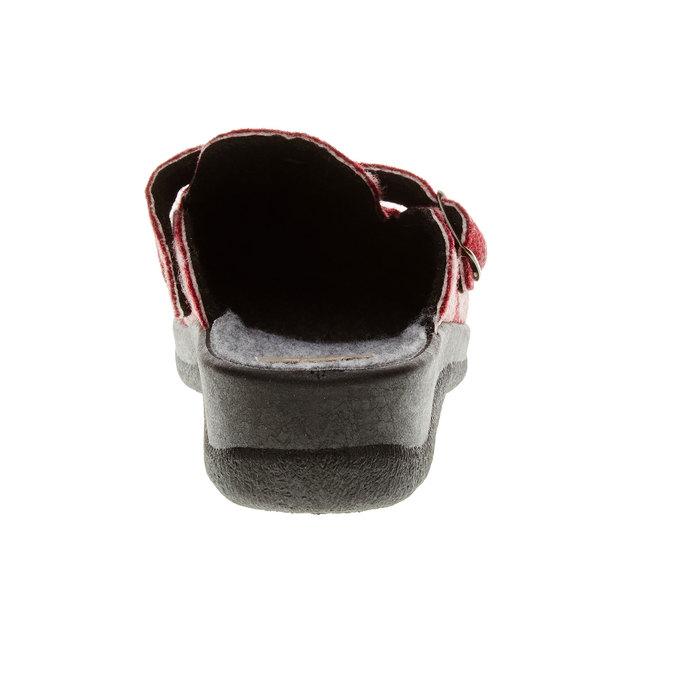 Domáca obuv bata, červená, 579-5221 - 17
