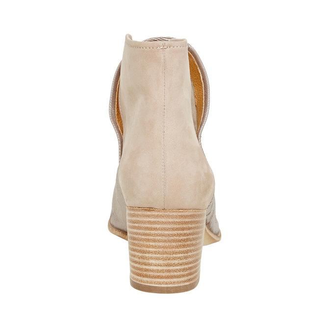 Kožené členkové čižmy bata, béžová, 696-2110 - 17