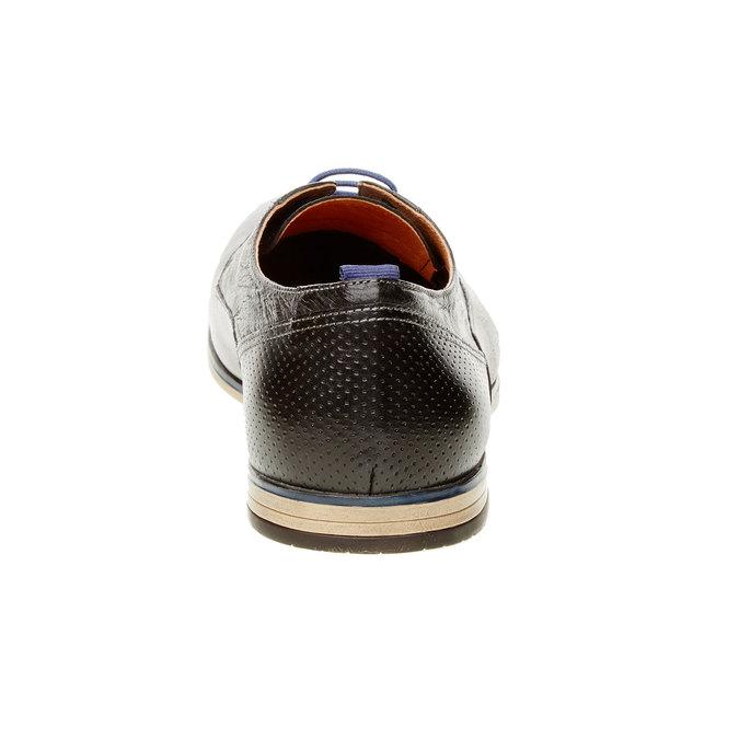 Kožené poltopánky v štýle derby bata, čierna, 824-6605 - 17