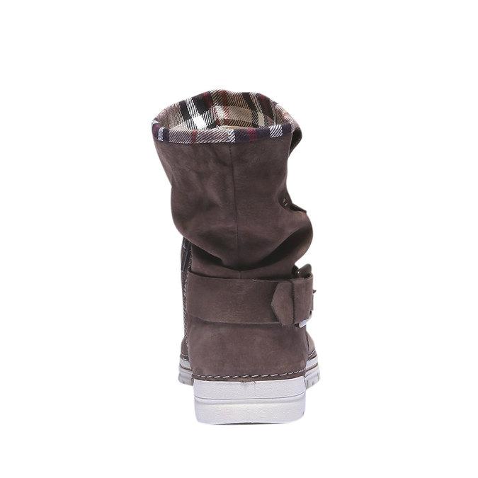 Kožená obuv s farebným lemom weinbrenner, hnedá, 596-4311 - 17