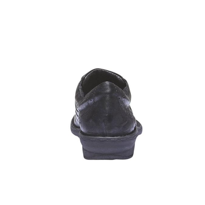 Ležérne kožené tenisky bata, čierna, 624-6111 - 17