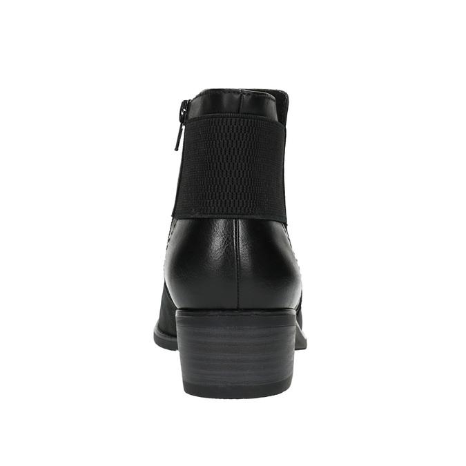 Dámska členková obuv bata, čierna, 696-6605 - 17