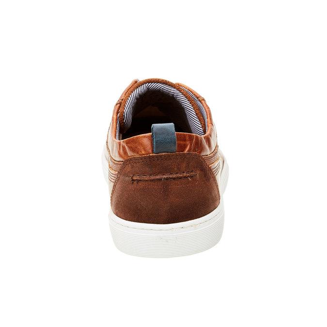 Ležérne kožené tenisky bata, hnedá, 844-3310 - 17
