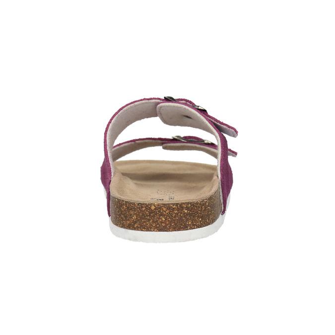 Dámske kožené papuče de-fonseca, fialová, 573-5620 - 17