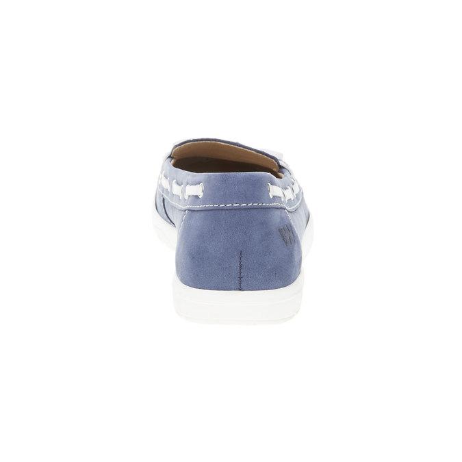 Dámske kožené mokasíny weinbrenner, modrá, 534-9116 - 17